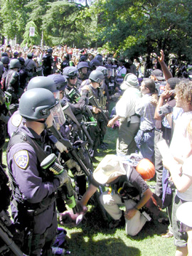 Sacramento's state capitol, June 23, 2003 -Say hello to the new police state in America!