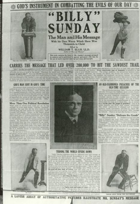 an essay on billy sunday Archive subject: billy sunday essay research paper billy sunday type: essay language: english author: monte karlo size: 14 кб subject: a free essays title: 'billy sunday essay research.